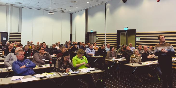 Bilde fra årsmøtet i NSG 2020.